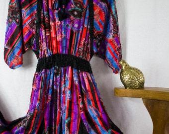 Diane Freis Bohemian Paisley Dress
