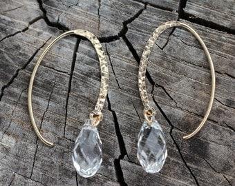 Elegant 14Kt Gold-Filled and Swarovski Crystal earrings
