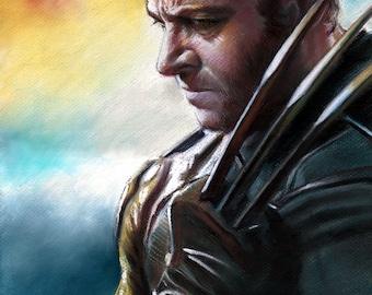 "X men, Wolverine drawing by artist eugene, print, 16""x20""22.4""x28"",30""x40"""