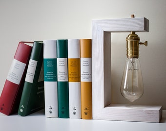 wooden lamp  - Edison Bulb - Vintage lamp - Edison C lamp - Steampunk lamp -