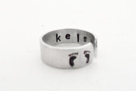Custom Personalized Mothers Ring, New Mother, Gift For Mom, Mothers Gift, Baby Shower Gift, Name Ring, Stamped Customizable Gift