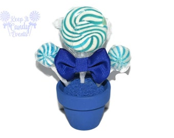 Mini Royal Blue Lollipop Favor, Royal Blue Candy Wedding Favor, Royal Blue Wedding, Royal Blue Favor, Blue Theme, Party Favors, Party Bags