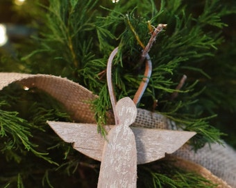 Christmas Ornament Angel- Christmas angel made from reclaimed wood