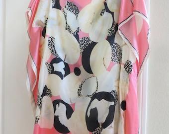 Modern Silk Print Tunic, Womens Silk Tunic, Silk Coverup, Silk Dress, Womens Silk Blouse