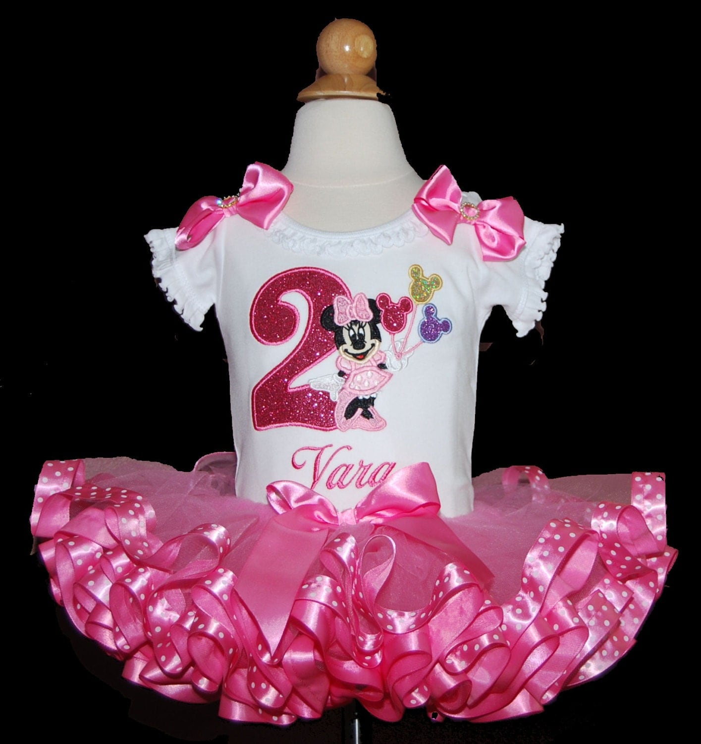 Sparkle Minnie Mouse 2nd Birthday Tutu Outfit Platinum