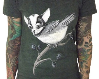 Chickahuahua T Shirt- Heather Green