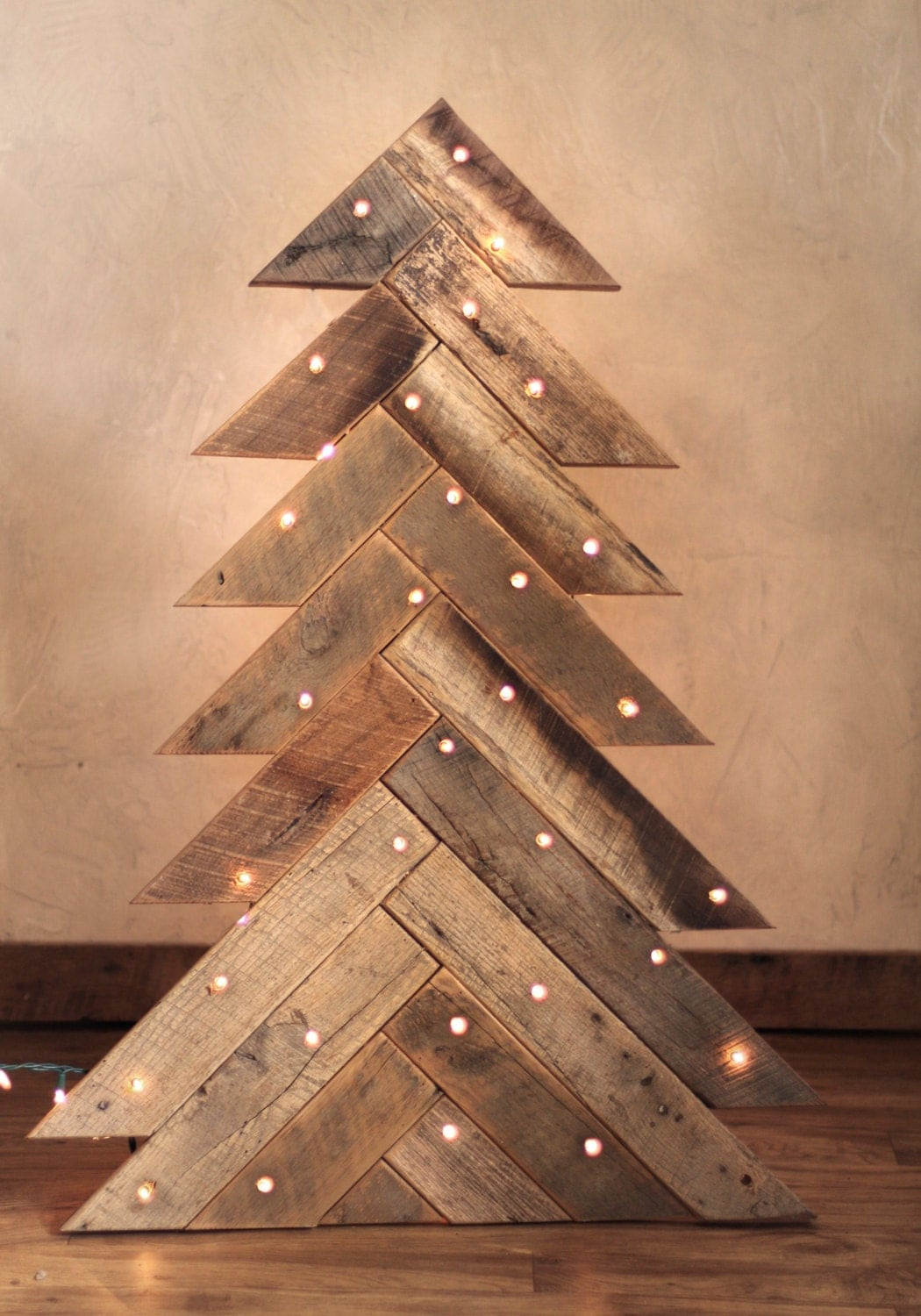 Wood christmas tree with optional lights rustic christmas Christmas trees made out of wood