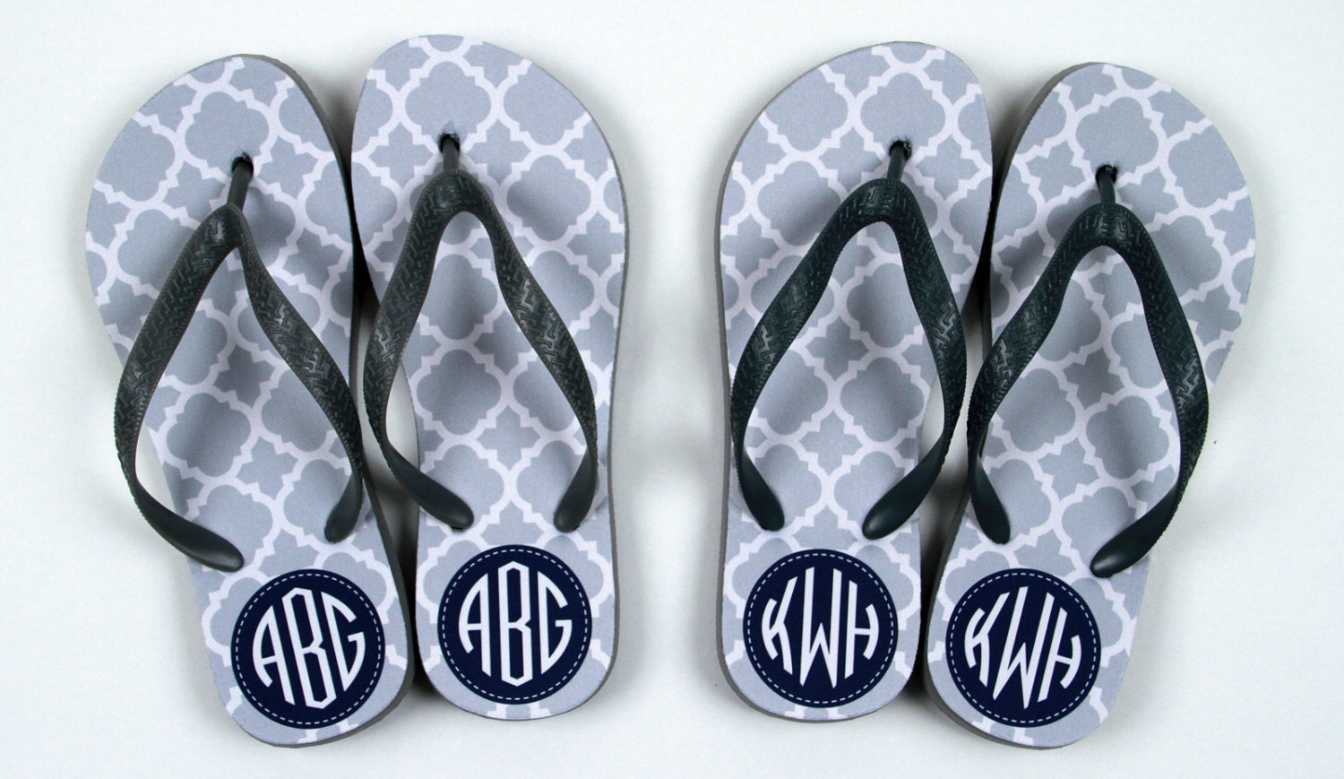 Flip Flops Monogrammed Gift Bridal Party By ChicMonogram On Etsy