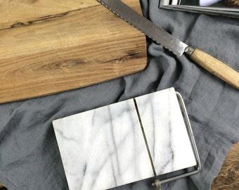Vintage Marble Cheese Slicer & Board, Vintage Kitchen