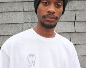 Embroidered Single Tooth Tee
