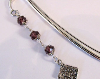 Passionate About Purple Reader Jeweled Bookmark  (JB185)