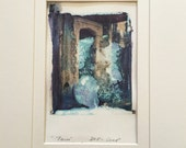 Polaroid Transfer Paris Photograph 11 x 14 French Doorway Matted Ready to Frame OOAK