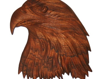 Eagle Cedar Wood Carving Wall Decor