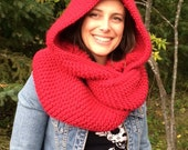 Easy Knit Hooded Cowl Pattern, Hooded Cowl, Pattern, Easy Pattern, Easy Knit, Cowl, Hood, Easy