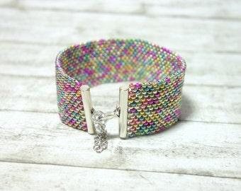 Pearl bracelet Peyotearmband wrist colorful Beads Bracelet