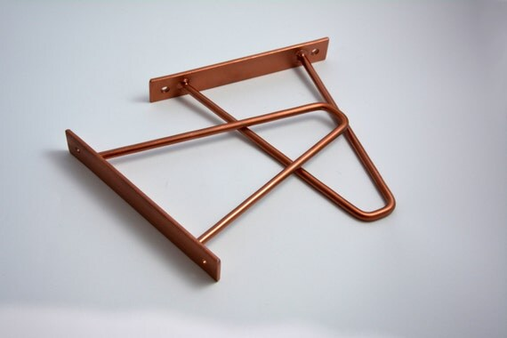 Pair Of Copper Steel Brackets Choose Your Size Metal