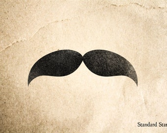 Texas Ranger Mustache Rubber Stamp - 2 x 2 inches