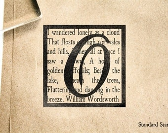 Wordsworth Monogram Rubber Stamp - 2 x 2 inches