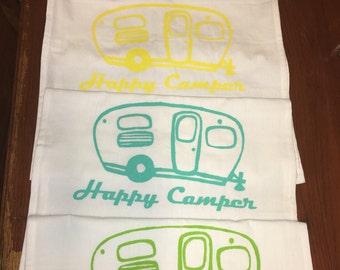 Happy Camper Flour Sack/ Tea Towel