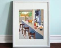 Luke's Diner - Gilmore Girls, Gilmore Girls TV Show Art Print, TV sitcom