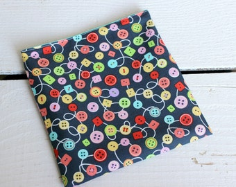 Reusable Snack and Sandwich Bag with Michael Miller Bouncy Buttons Fabric