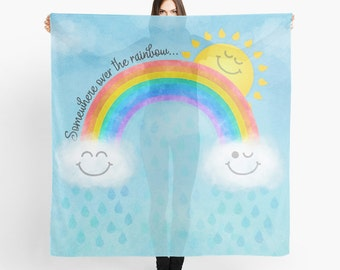 Rainbow Scarf - Somewhere Over the Rainbow - Children's Design