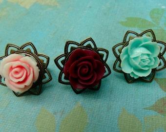Epoxy Rose Ring