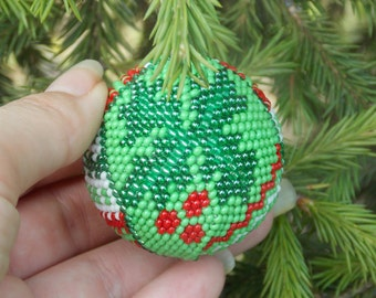 Handmade gifts for woman Holly decorations Rustic Christmas green holly ornaments Handmade christmas holly accent first Christmas ideas