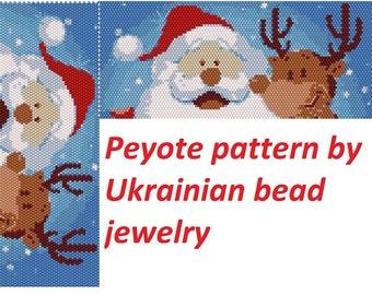 Santa and deer patterns santa patterns Christmas deer peyote odd pattern winter snowflake  fun patterns tutorial for handmade jewelry diy