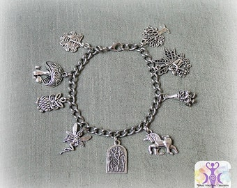 Faerie Realm Charm Bracelet, with Fairies, Green Man and More!