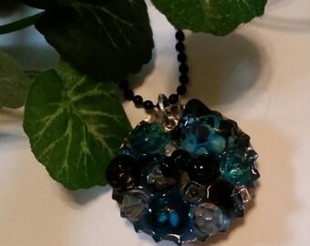 Beaded Bottle cap necklace