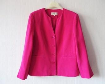 Fuchsia jacket | Etsy