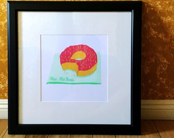 Mine. Not Yours Donut Art Print