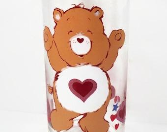 Collectible Care Bear Glass - 1983 Tenderheart Bear Pizza Hut Glass