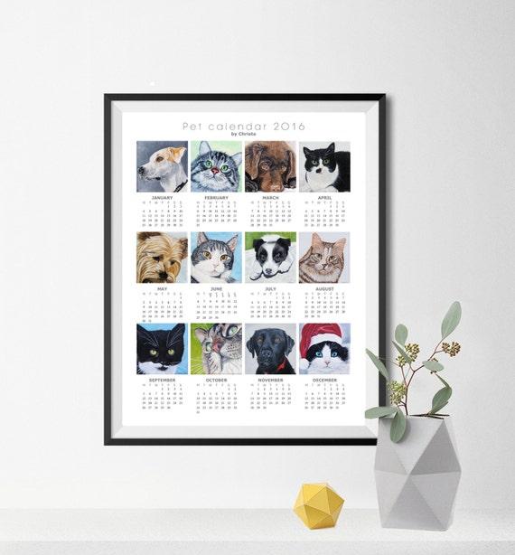 Calendar Poster 2016 : Calendar poster memorial art pet by oilpaintingschrista