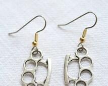 Dangling earrings.