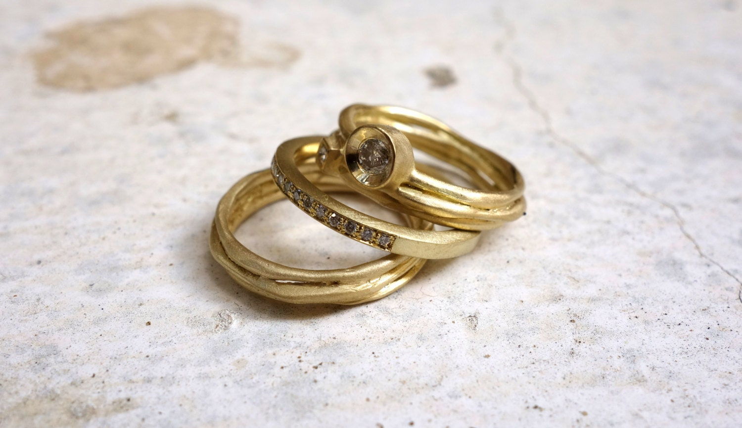 gold stacking rings stackable rings unique stacking by