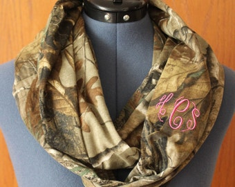 Camo Scarf with Embriodered Monogram *Fancy Font*