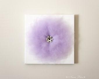 Purple Flower Wall Decor Lilac Lavender Art Work 12X12 Canvas Wall Hanging  Flower Wall Art  Baby Nursery Wall Decor