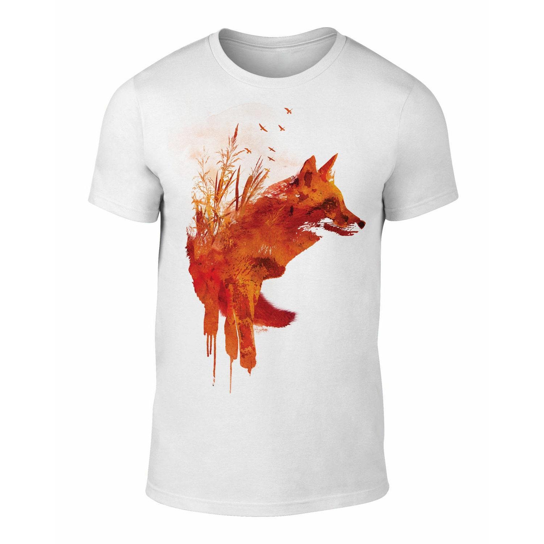 e72e82e45 ... Red Fox Collage Shirt: Unisex Wild Red Fox T-Shirt Plattensee Fox T-