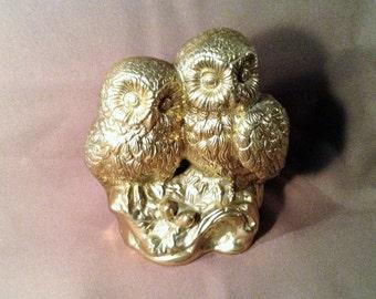 Brass Figurine of 2 Owls - Ethan Allen
