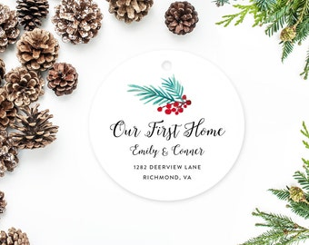 Our First Home Ornament, Family Christmas Ornament, New House Gift, Housewarming Present