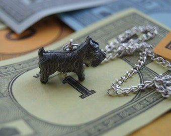 Scottie Dog Vintage Monopoly Piece Necklace