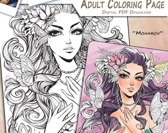 Monarch - Adult Coloring Page