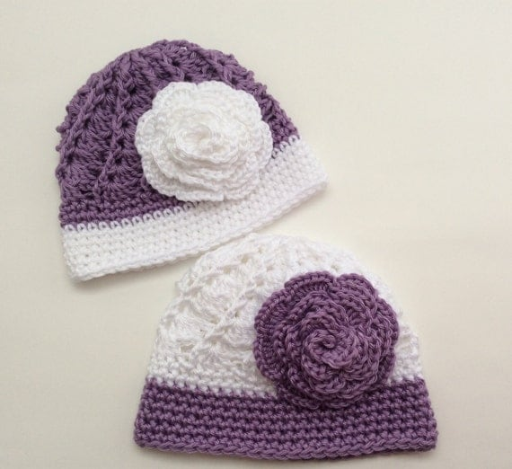 Crochet Twin Hats Coming Home Baby Hat Set by ...