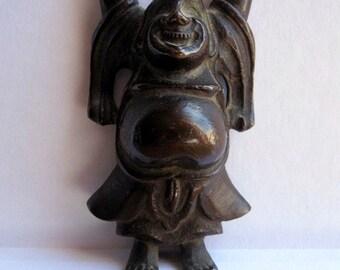Laughing Buddha or Happy Man.Bronze Poe Tai Hoshang chinese bronze.