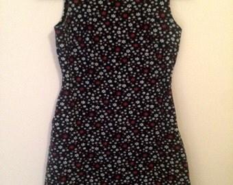 Floral Textured Mini Dress 90s