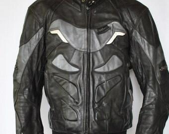 Vintage ACES by MQP leather moto jacket  , men's biker jacket ,armour  motorcycle jacket...(054)