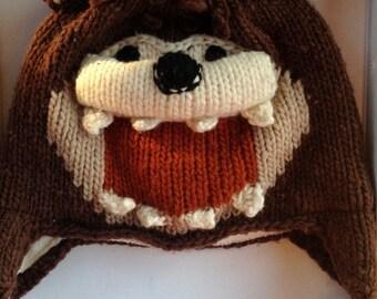 Devil knitting hats  tasmanian devil  characters hat