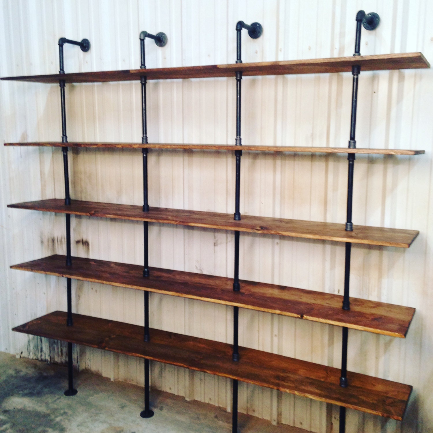 Industrial Furniture Modern Industrial Shelf Unit Pipe